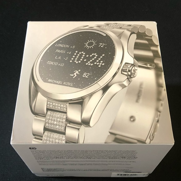 2ce99ebf0016 🔥🔥Michael Kors Access Bradshaw Smartwatch Silver